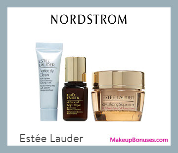 Receive a free 3-pc gift with $49.5 Estée Lauder purchase