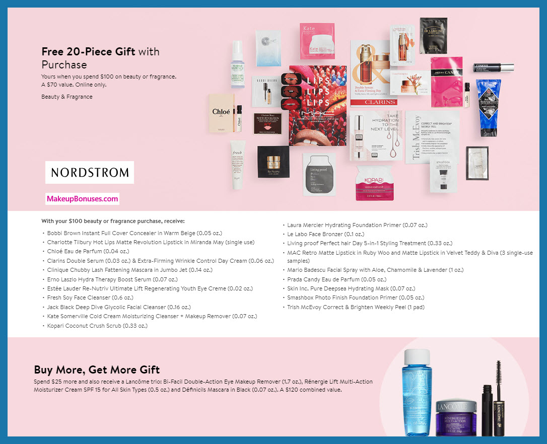 Receive a free 23-pc gift with $125 Multi-Brand purchase