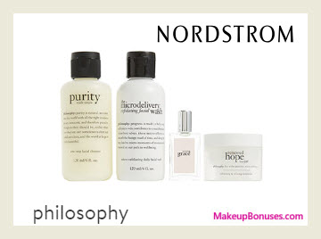 Receive a free 4-pc gift with $75 Philosophy purchase