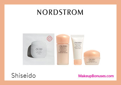Receive a free 4-pc gift with $45 Shiseido purchase