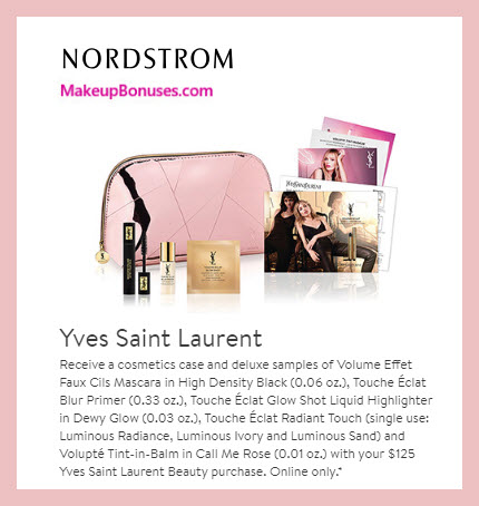 Receive a free 7-pc gift with $125 Yves Saint Laurent purchase