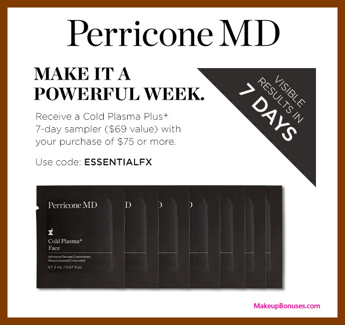 Receive a free 7-pc gift with $75 Perricone MD purchase