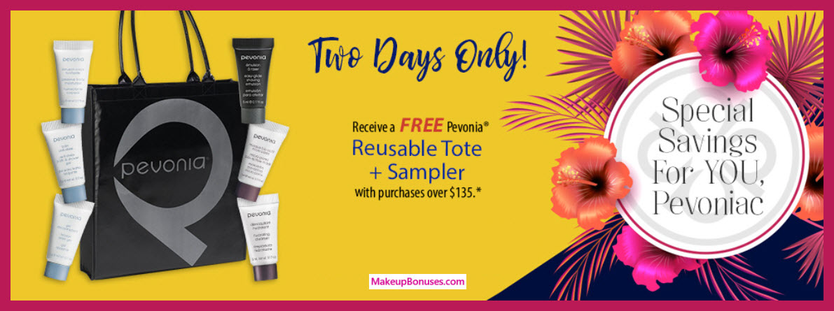 Receive a free 7-pc gift with $135 Pevonia purchase