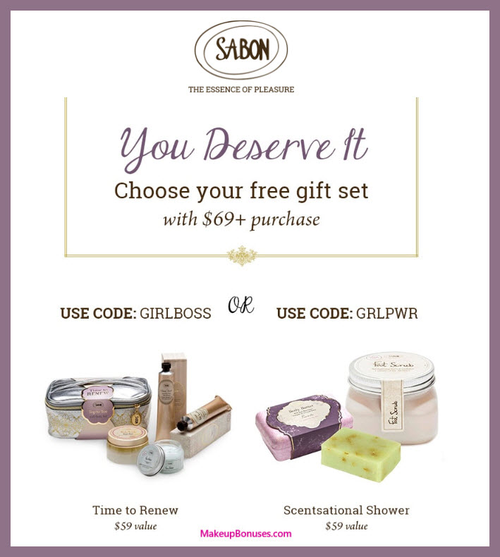 Receive your choice of 3-pc gift with $69 Sabon NYC purchase