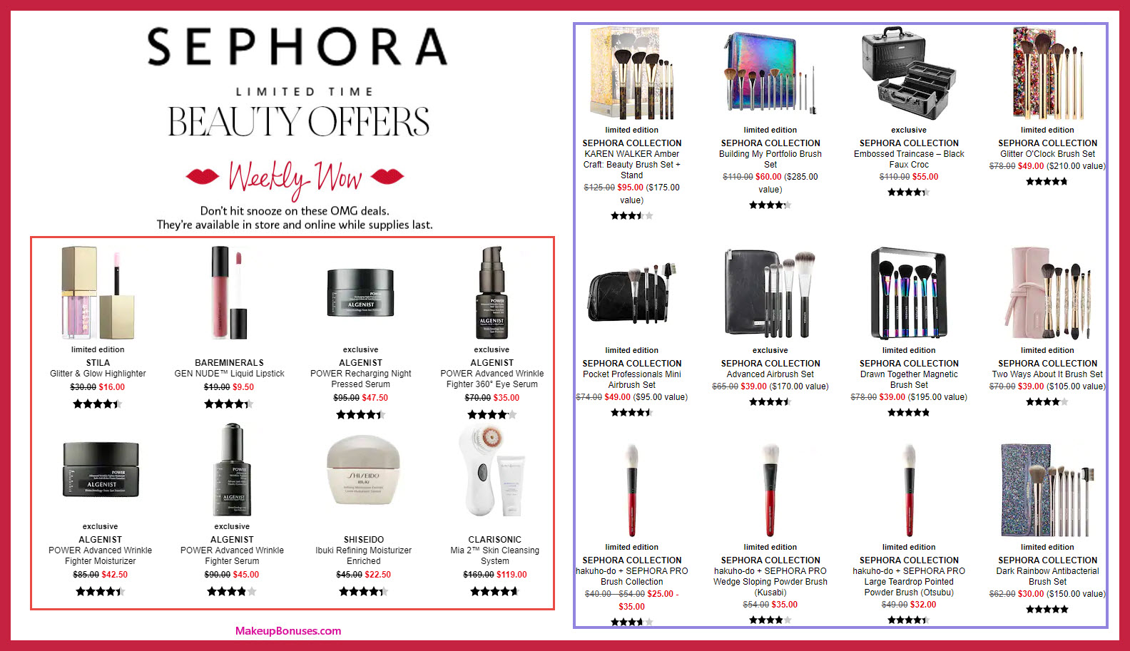 Sephora Discount Offers - MakeupBonuses.com