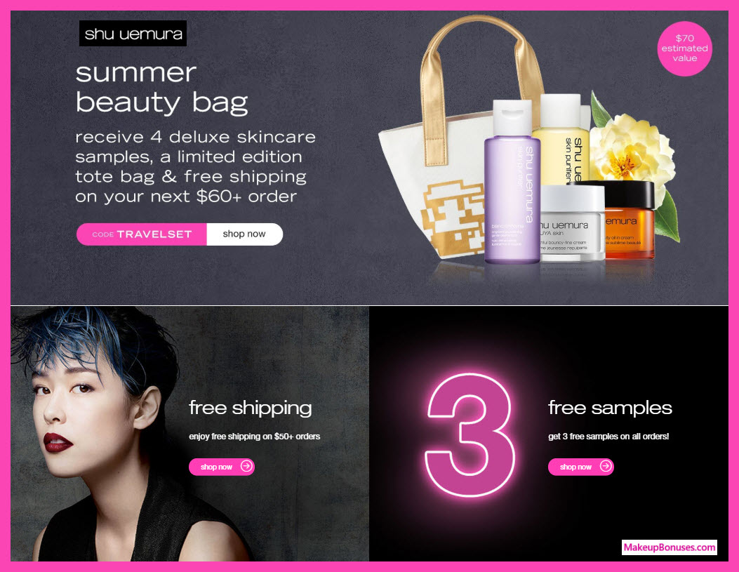 Receive a free 5-pc gift with $60 Shu Uemura purchase