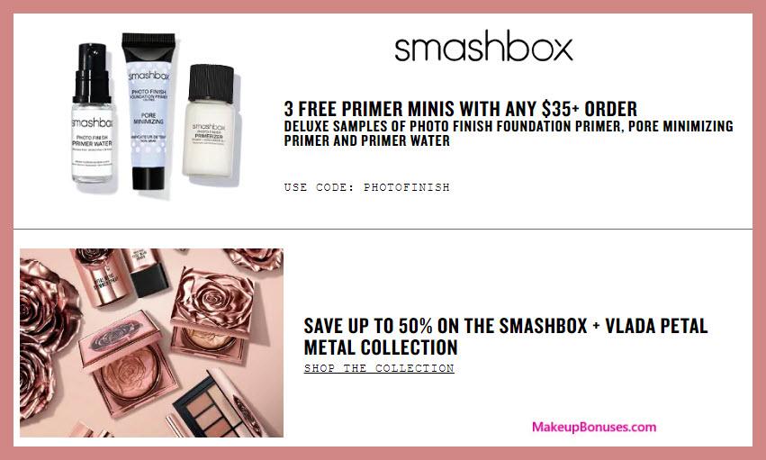 Smashbox Free 3-piece Bonus Gift - Makeup Bonuses