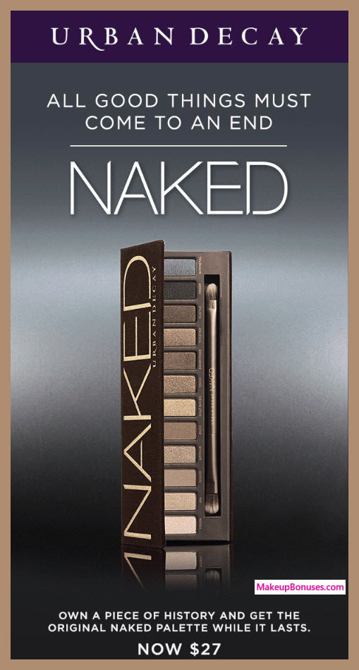 Urban Decay Naked Palette 50% Off Makeupbonuses.com