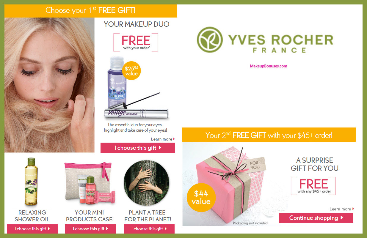 Receive a free 4-pc gift with $10 Yves Rocher purchase