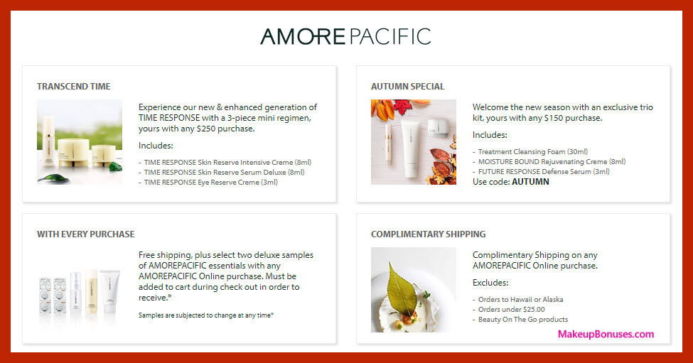 Receive a free 3-pc gift with $150 AMOREPACIFIC purchase #AMOREPACIFIC_US