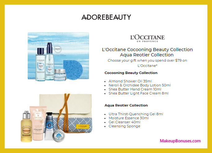 Receive your choice of 4-pc gift with $79 L'Occitane purchase