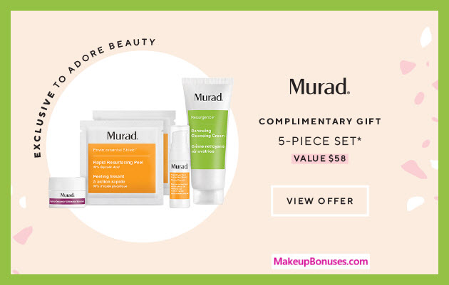 Receive a free 5-pc gift with 2+ Murad products purchase