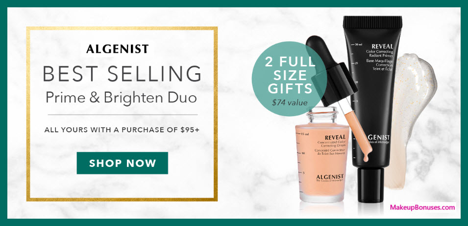 Receive a free 2-pc gift with $95 Algenist purchase #algenist