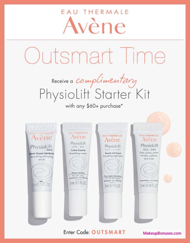 Receive a free 4-pc gift with $60 Avène purchase #aveneusa
