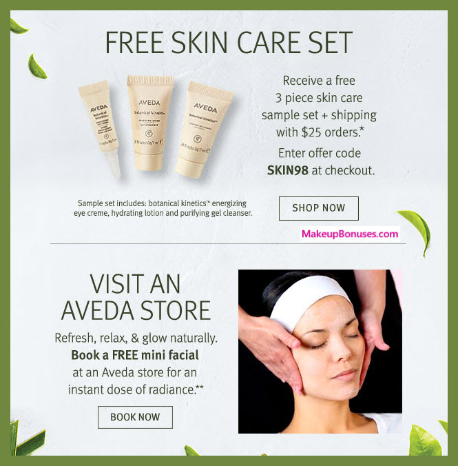Receive a free 3-pc gift with $25 Aveda purchase #aveda