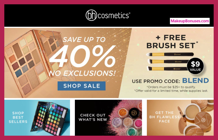Receive a free 3-pc gift with $25 BH Cosmetics purchase #Bhcosmetics