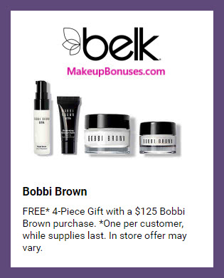 Receive a free 4-pc gift with $125 Bobbi Brown purchase #belk
