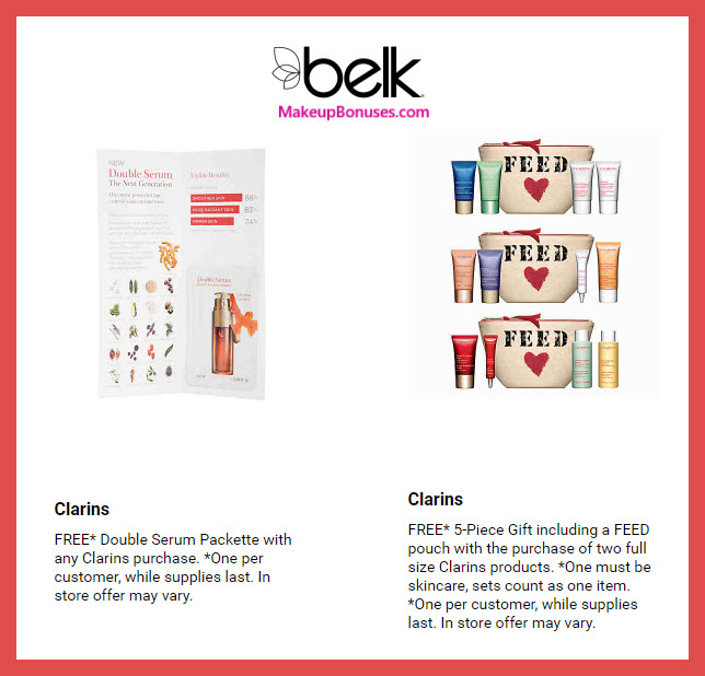 Receive a free 5-pc gift with 2 full size products purchase #belk
