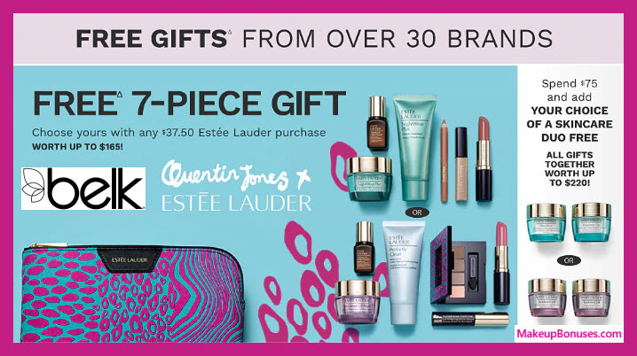 Receive your choice of 7-pc gift with $37.5 Estée Lauder purchase #belk