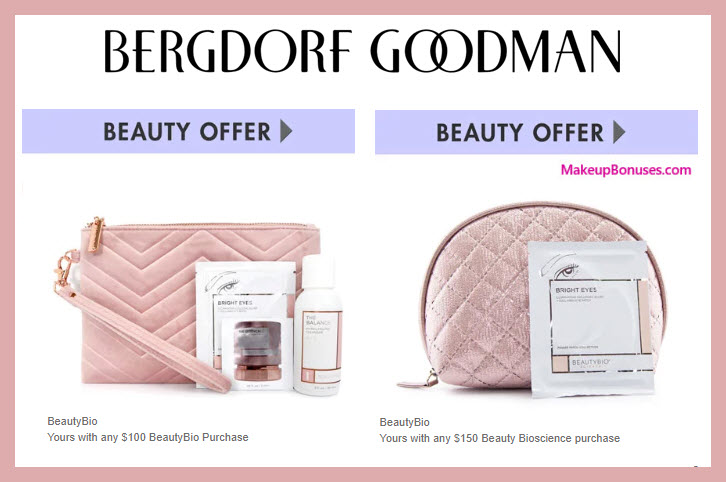 Receive a free 4-pc gift with $100 Beauty Bioscience purchase #bergdorfs