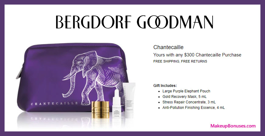 Receive a free 4-pc gift with $300 Chantecaille purchase #bergdorfs