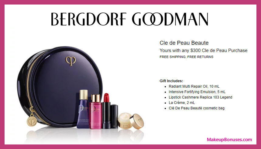 Receive a free 5-pc gift with $300 Clé de Peau Beauté purchase #bergdorfs