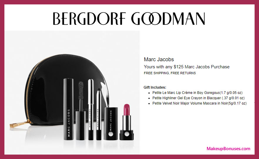 Receive a free 3-pc gift with $125 Marc Jacobs Beauty purchase #bergdorfs