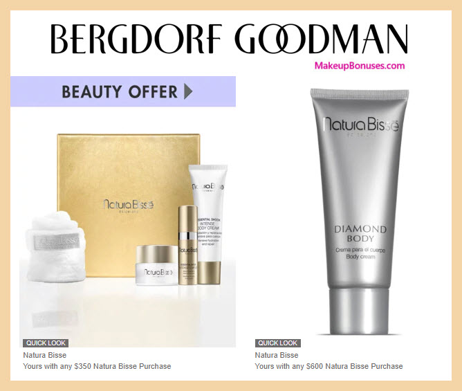 Receive a free 4-pc gift with $350 Natura Bissé purchase #bergdorfs