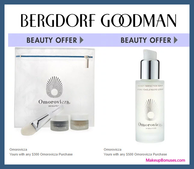 Receive a free 4-pc gift with $300 Omorovicza purchase #bergdorfs