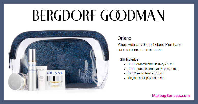 Receive a free 4-pc gift with $250 Orlane purchase #bergdorfs