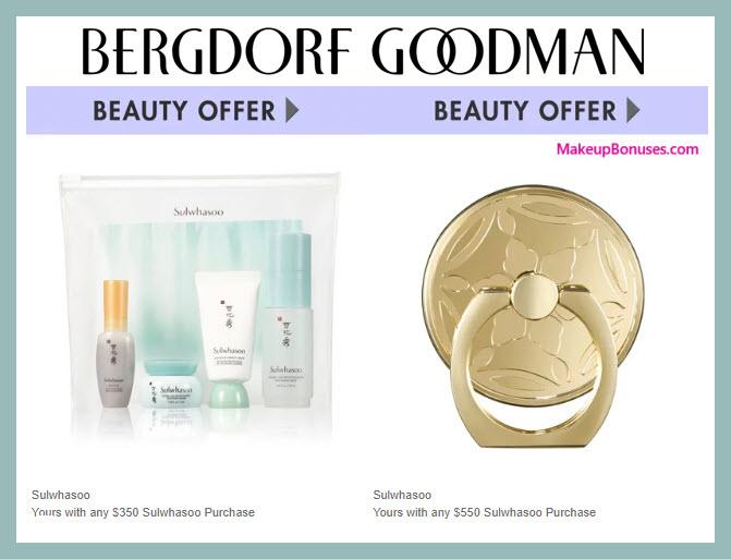 Receive a free 4-pc gift with $350 Sulwhasoo purchase #bergdorfs
