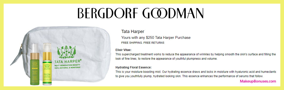 Receive a free 3-pc gift with $250 Tata Harper purchase #bergdorfs
