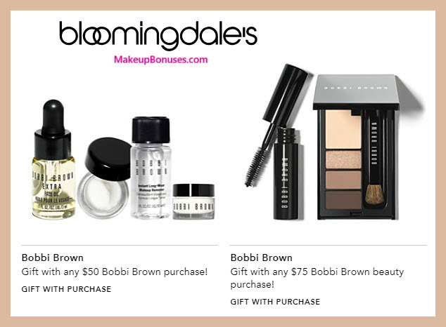 Receive your choice of 4-pc gift with $75 Bobbi Brown purchase #bloomingdales