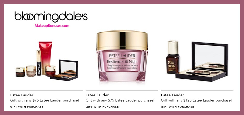 Receive your choice of 4-pc gift with $75 Estée Lauder purchase #bloomingdales