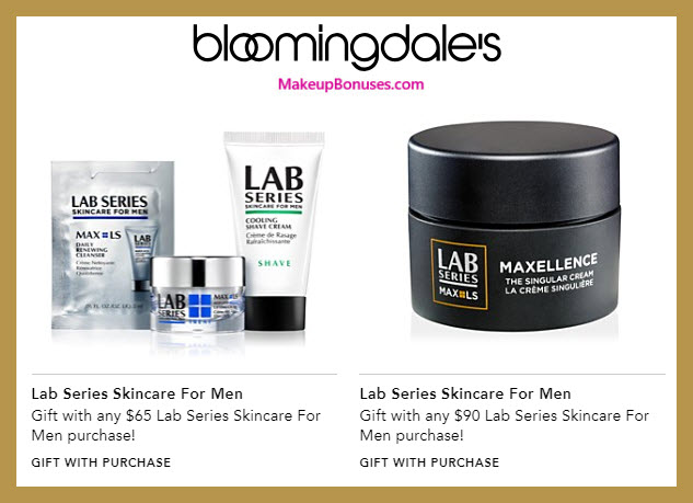 Receive a free 3-pc gift with $65 LAB SERIES purchase #bloomingdales