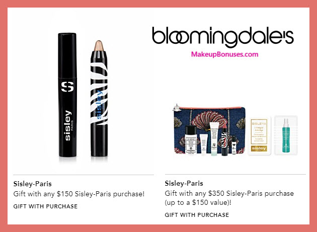 Receive a free 10-pc gift with $350 Sisley Paris purchase #bloomingdales