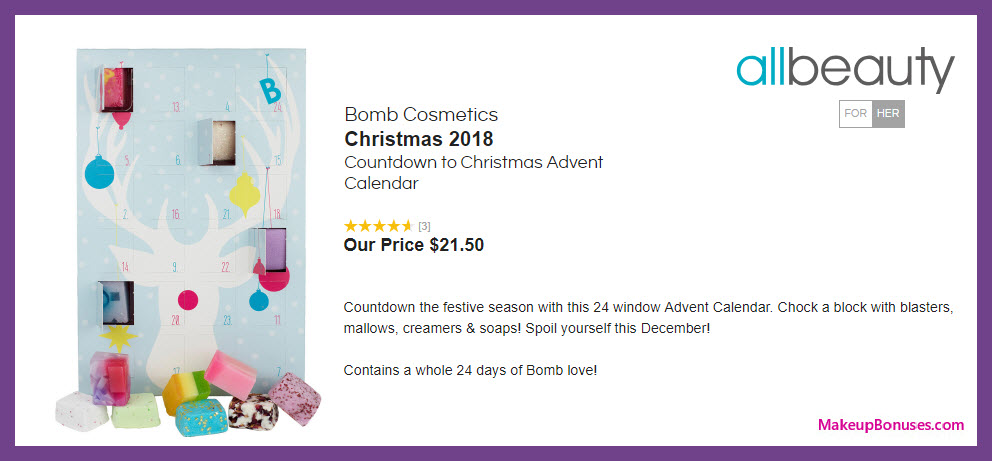 Bomb Cosmetics Countdown to Christmas Advent Calendar - MakeupBonuses.com #allbeautynews #AllBeautyPins