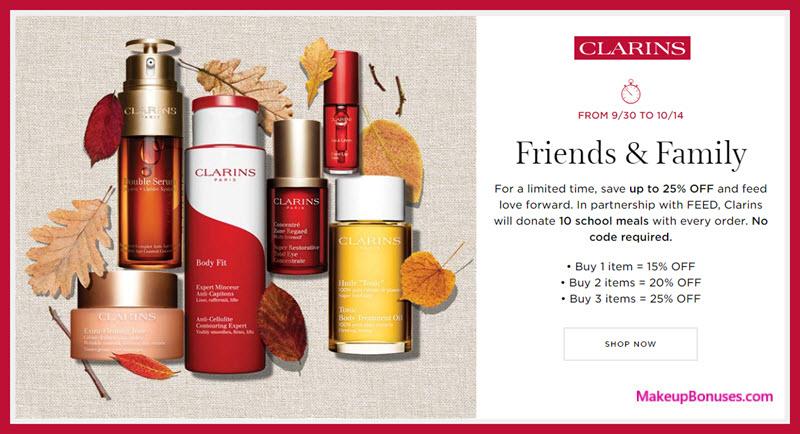 Clarins Sale - MakeupBonuses.com
