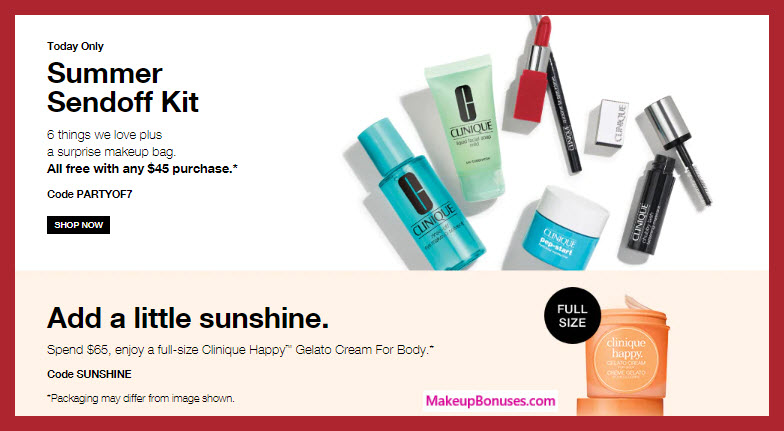 Receive a free 7-pc gift with $45 Clinique purchase #clinique