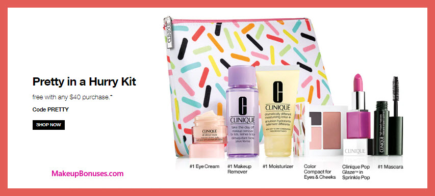 Receive a free 7-pc gift with $40 Clinique purchase #clinique