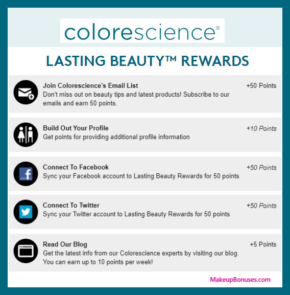 Colorescience Birthday Gift - MakeupBonuses.com #colorescience
