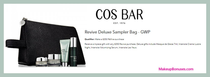 Receive a free 4-pc gift with $350 RéVive purchase #CosBar