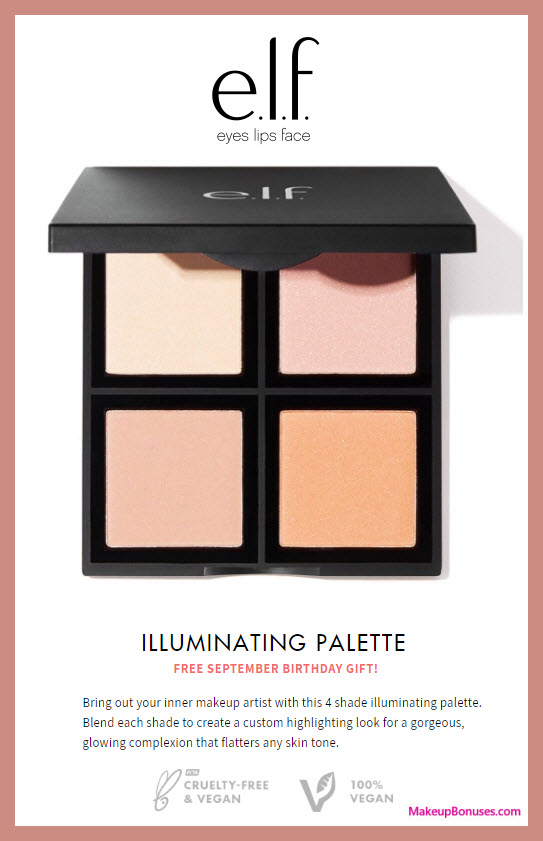 ELF Cosmetics Birthday Gift - MakeupBonuses.com #elfcosmetics #CrueltyFree & 131 Stores w/ FREE BEAUTY Birthday Gifts! - Makeup Bonuses