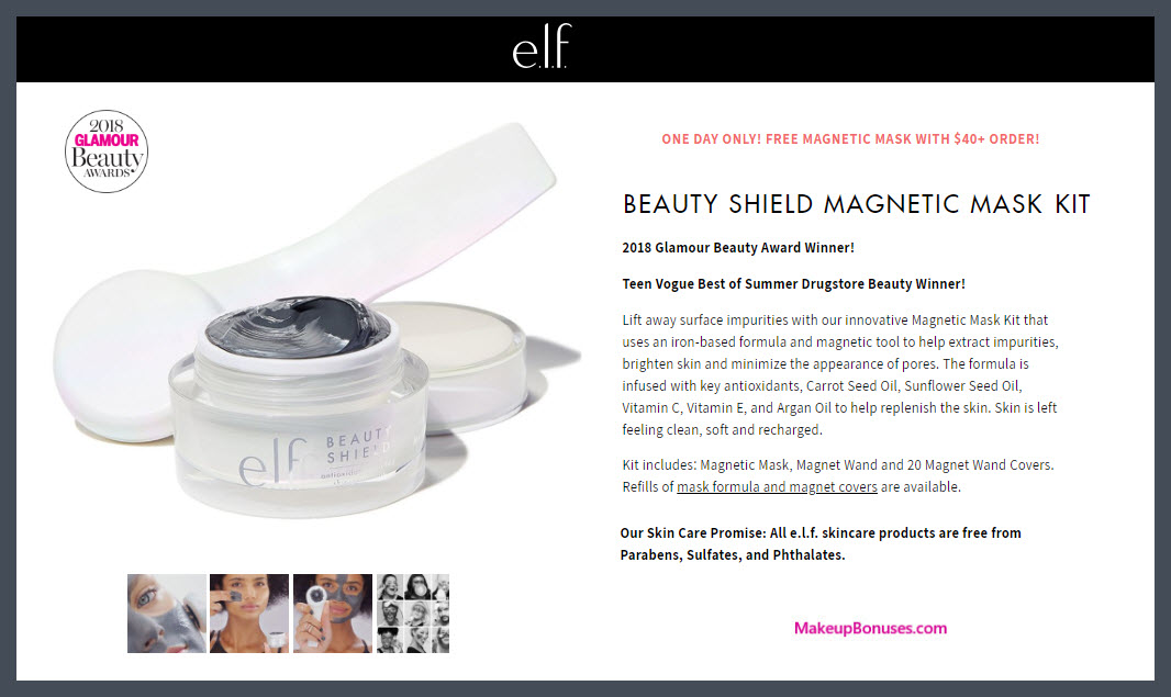 Receive a free 1-pc gift with $40 ELF Cosmetics purchase #elfcosmetics