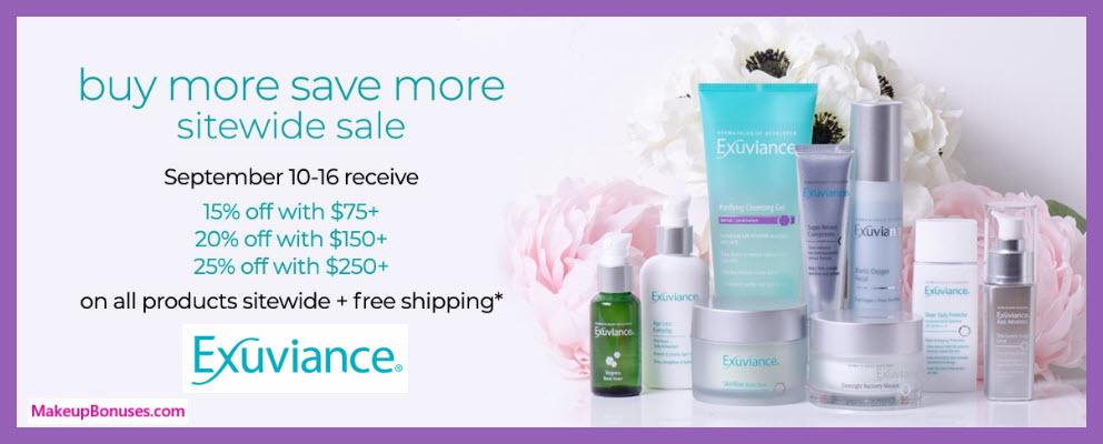 Exuviance Sale - MakeupBonuses.com