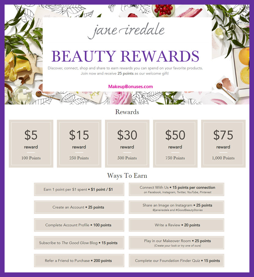 Jane Iredale Beauty Rewards - MakeupBonuses.com