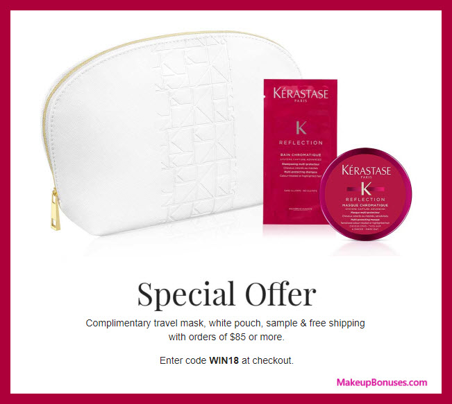 Receive a free 3-pc gift with $85 Kérastase purchase