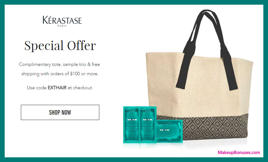 Receive a free 4-pc gift with $100 Kérastase purchase