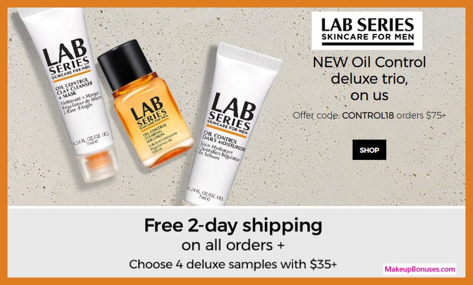 Receive a free 3-pc gift with $75 LAB SERIES purchase