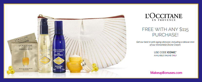 Receive a free 6-pc gift with $115 L'Occitane purchase